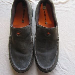 Mens Merrell Moc Leather Slip On Shoes Size 11